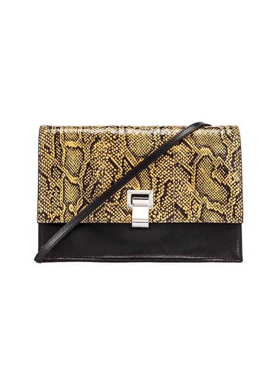 Lunch Bag in Black & Saffron