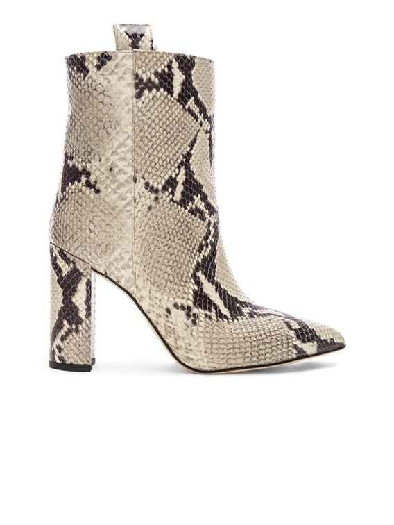 Snake Print Ankle Boot in Natural