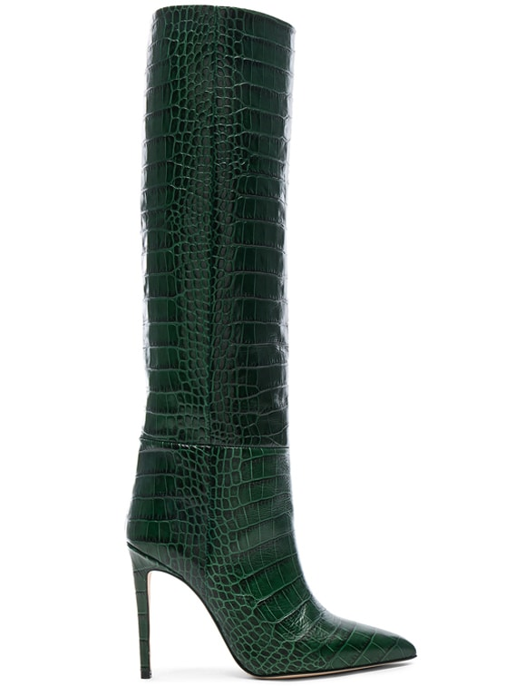 Croco Tall Boot in Green