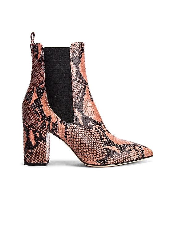Python Print Ankle Boot in Blush