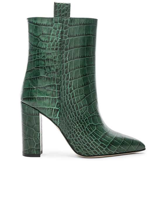 Croco Ankle Boot in Green