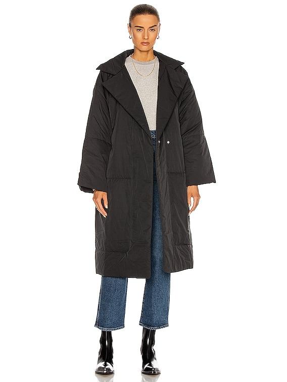 Puffer Long Coat in Black