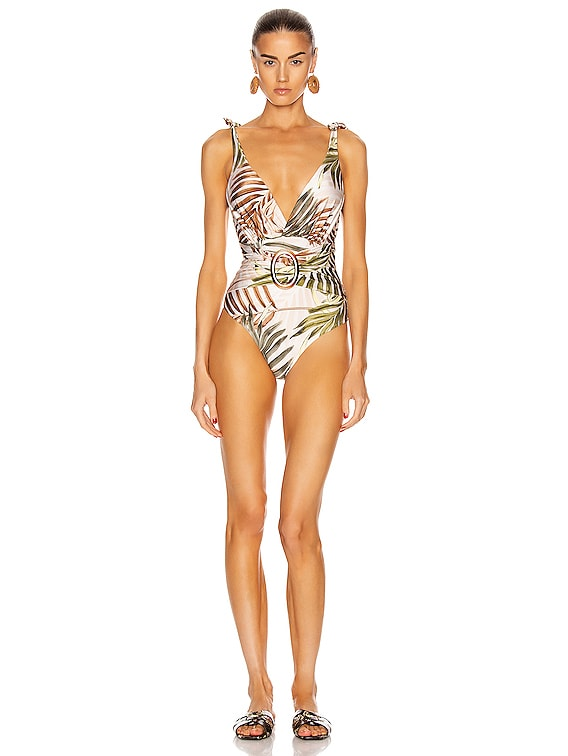 Palmeira Belted One Piece in Ivory