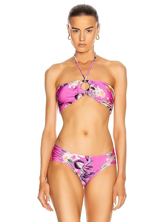 Grace Bandeau Bikini Top in Fuchsia
