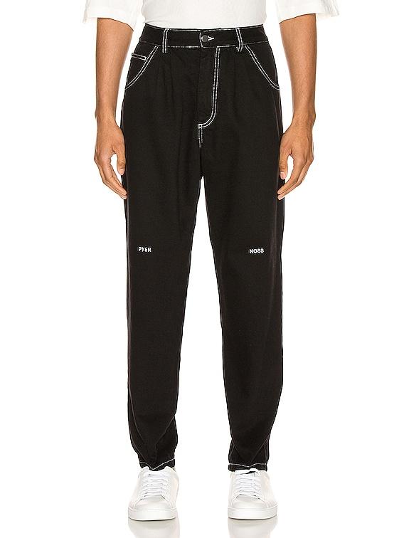 Slim Denim Pant in Black