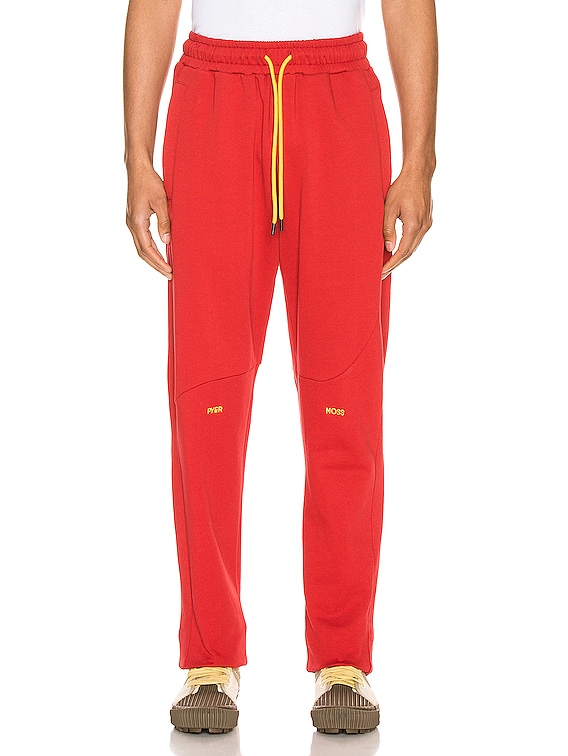 College Slouch Pant in Red