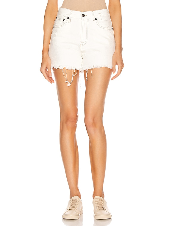 Slouch Short in Nollie White