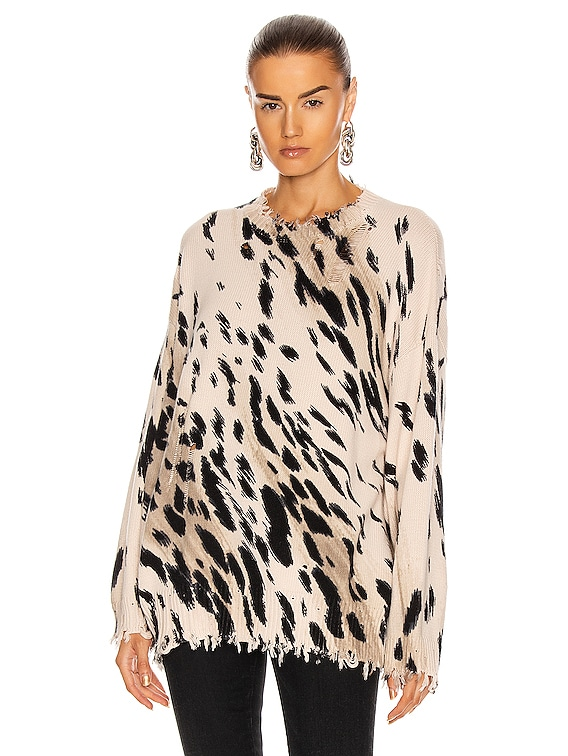 Cheetah Oversized Sweater in Cheetah