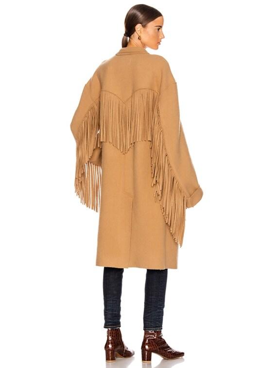 Fringe Coat in Camel