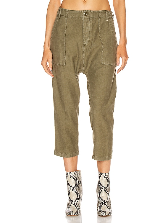 Utility Drop Crotch Pant in Fatigue Olive