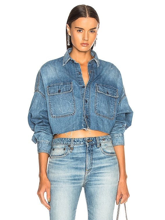 Cropped Shirt in Brindley