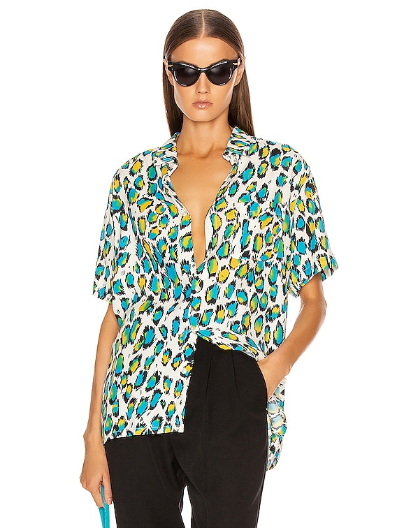 Tony Shirt in Colorful Leopard