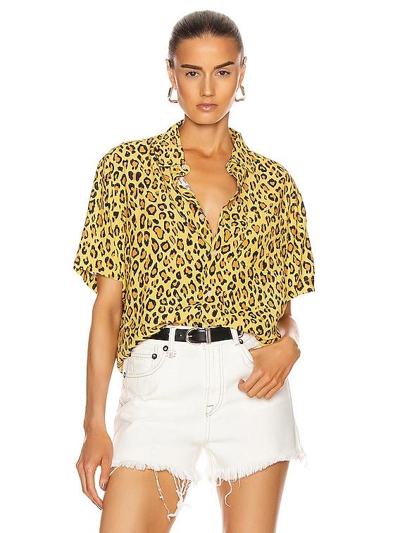Tony Shirt in Yellow Leopard
