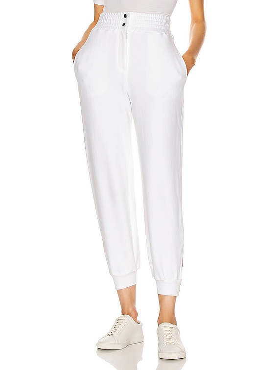 Snap Sweatpants in White