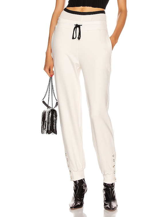 Contral Terry Double Waist Jogger in Dove