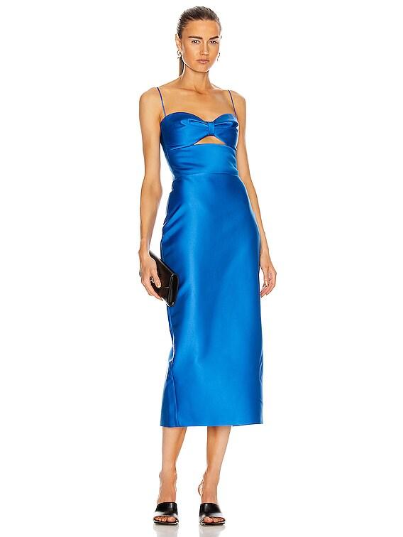 Cutout Midi Dress in Blue