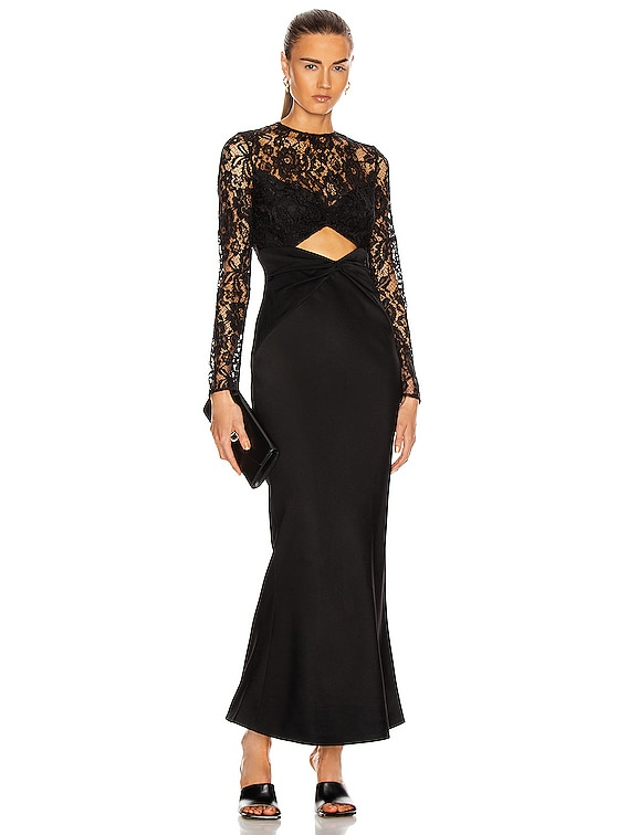 Cutout Maxi Dress in Black
