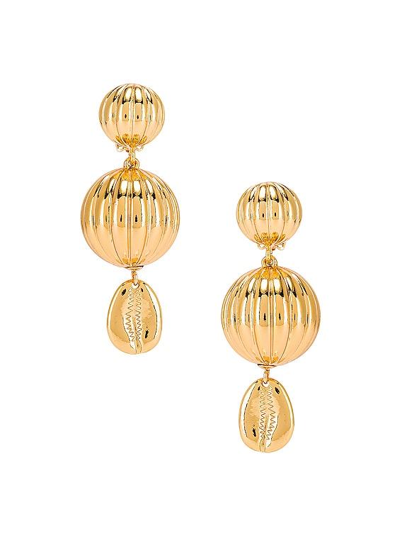Be Charmed Earrings in Gold