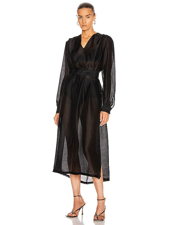 Benini Dress in Pirate Black