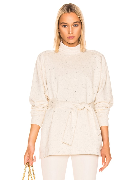 Amo Long Sleeve High Neck Top in Cream
