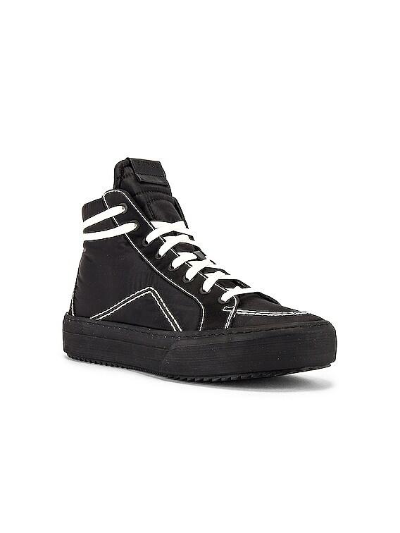 V1-Hi Sneaker in Black Nylon & Black