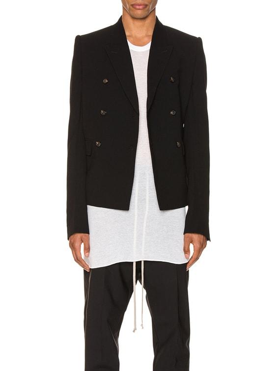 JMF Cropped Blazer in Black
