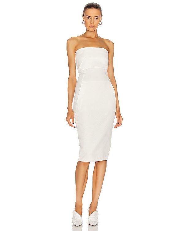 Bustier Dress in Chalk White