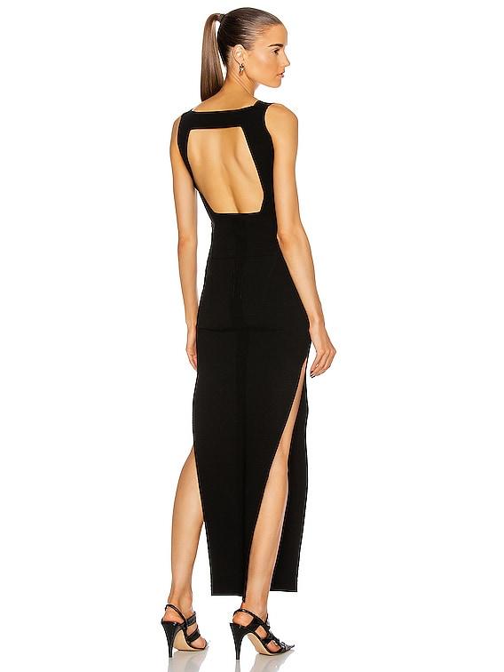 V Dress in Black