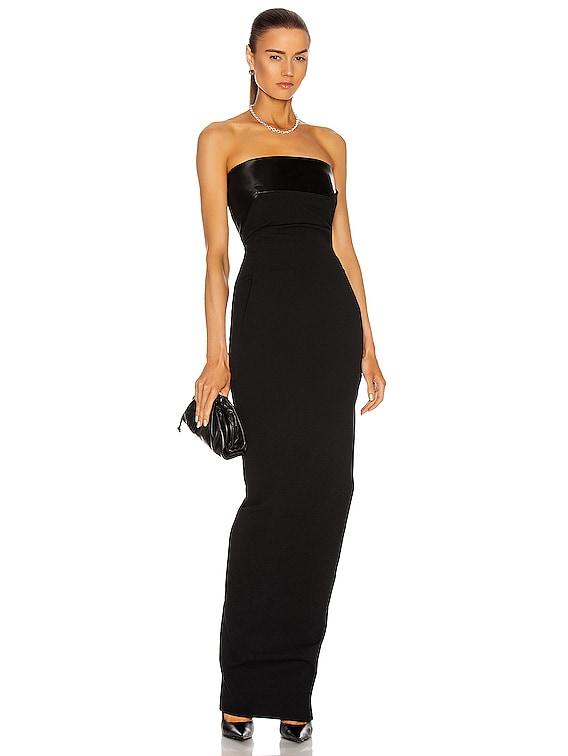 Bustier Gown in Black