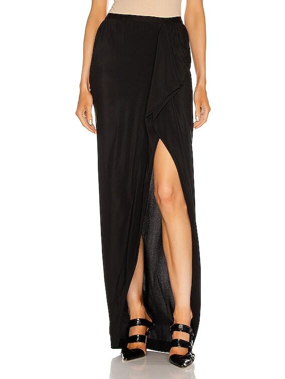 Grace Long Skirt in Black