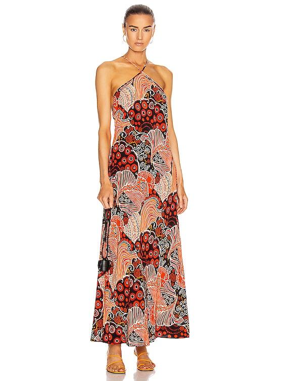 Opal Dress in 60's Swirls & Spots