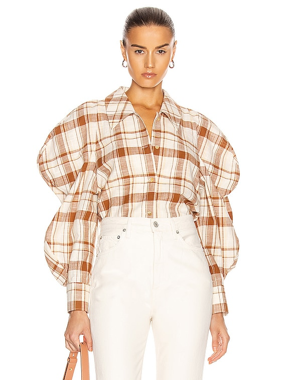 Julia Shirt in Check Brown