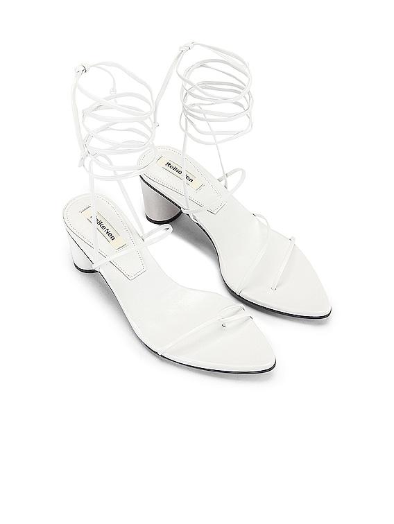 Odd Pair Heels in White