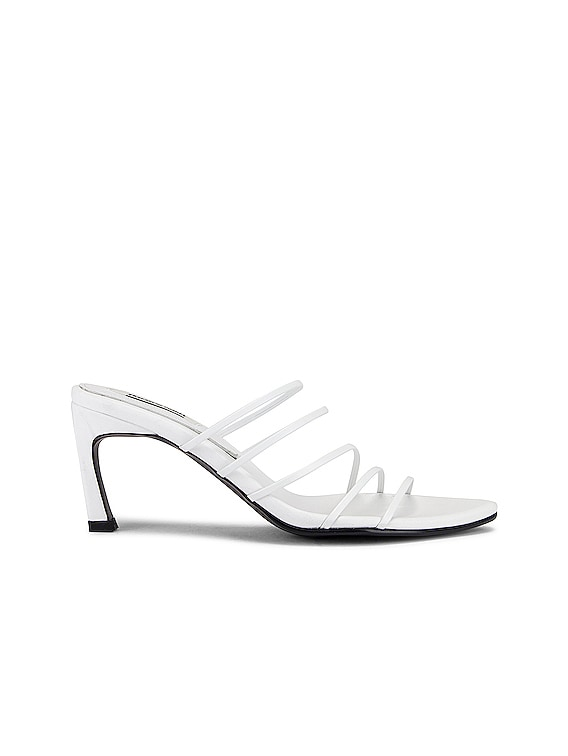 5 Strings Pointed Sandals in White