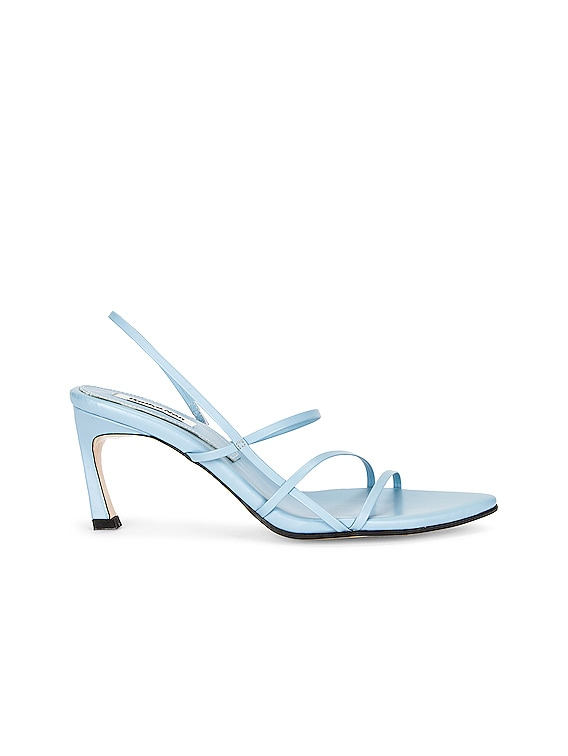 3 Strappy Pointed Sandal in Sky Blue