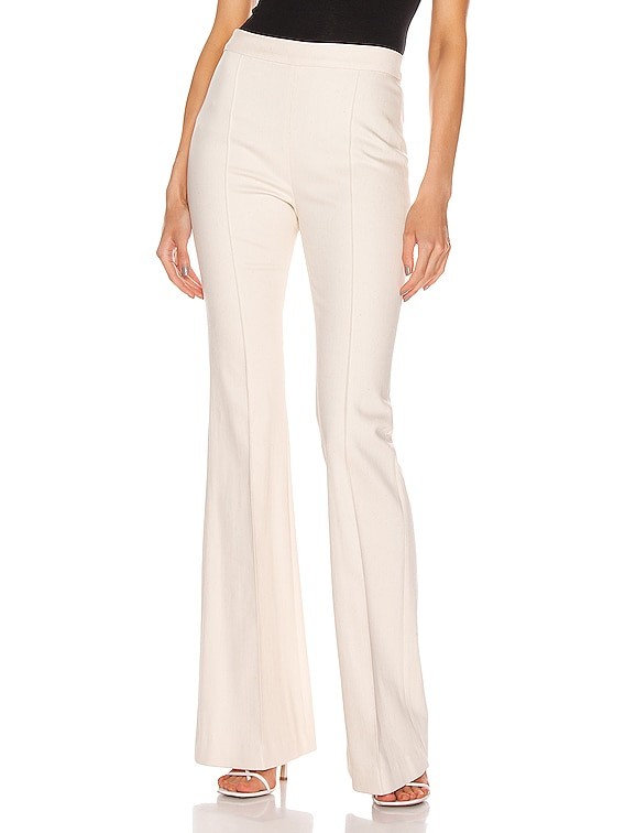Pintuck Flared Pant in Natural