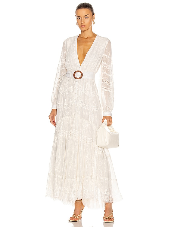 Zuri Maxi Dress in Off White