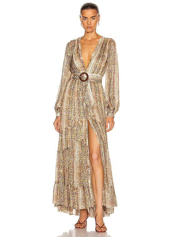 Rhea Maxi Dress in Snake Multi