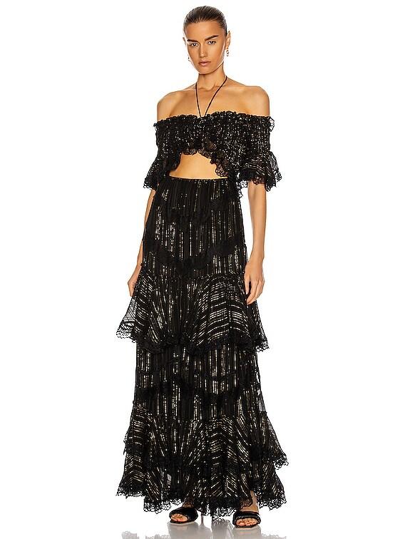Adina Long Dress in Black
