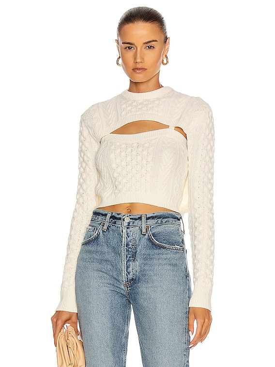 Thousand In One Ways Sweater in Ivory
