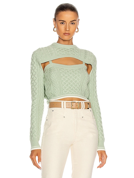 Thousand In One Ways Sweater in Mint