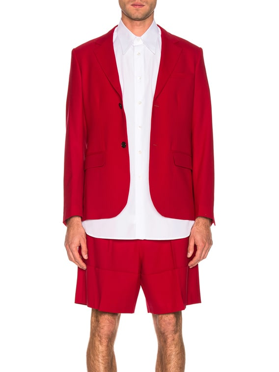 Small Fit Blazer in Red