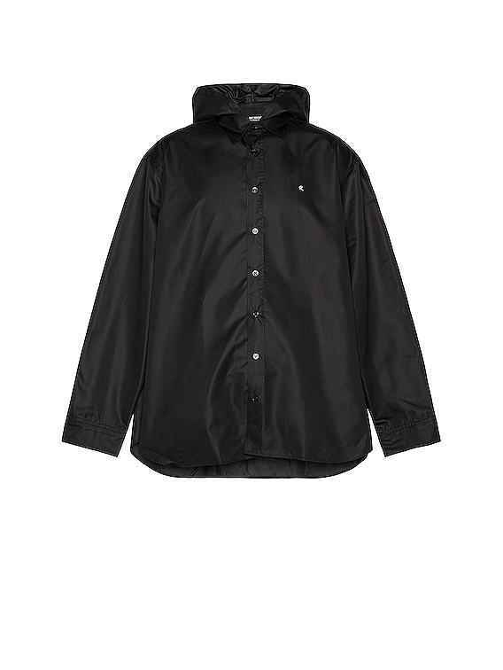 Big Fit R-Shirt With Hood in Black