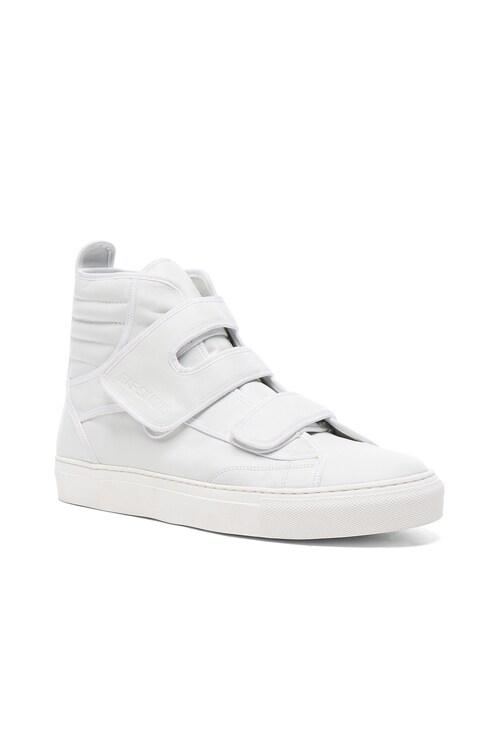 Raf Simons High Top Velcro Sneakers in