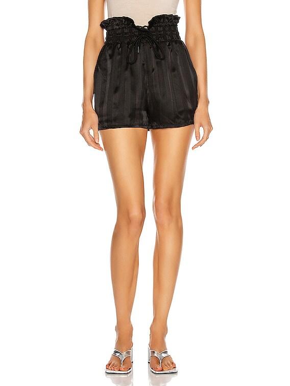 Tara Paperbag Shorts in Sultry Stripe