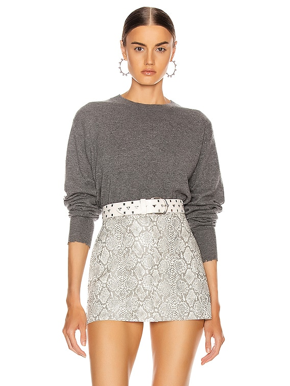 August Sweater in Heather Grey