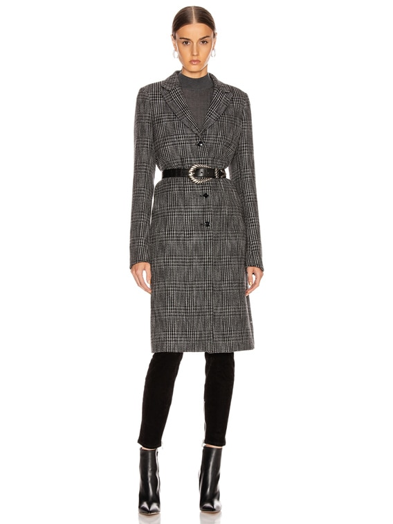 Jamson Coat in Black White Check