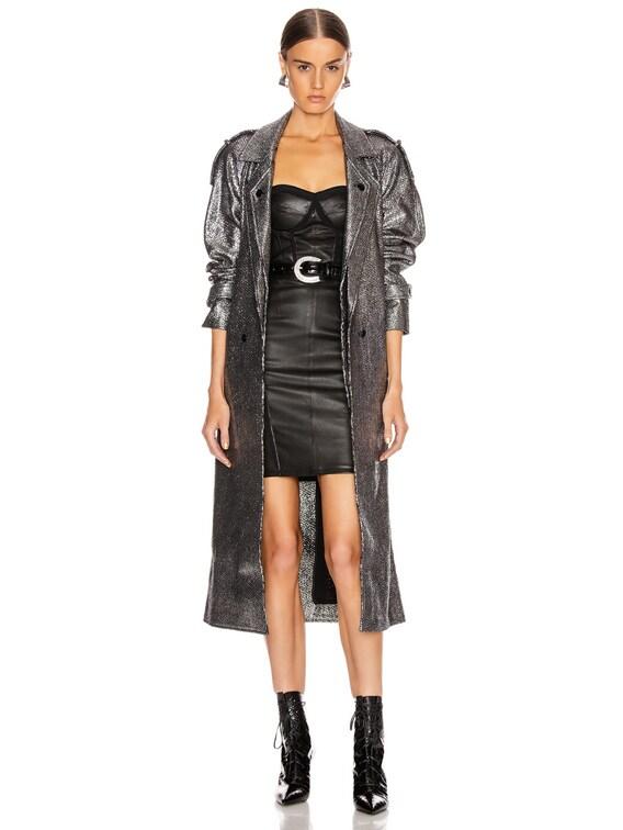 Andi Coat in Black Silver Tweed