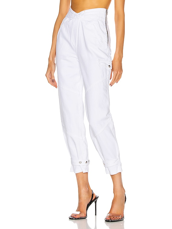 Dallas Dallas Baggy Cargo Pant in Optic White 3