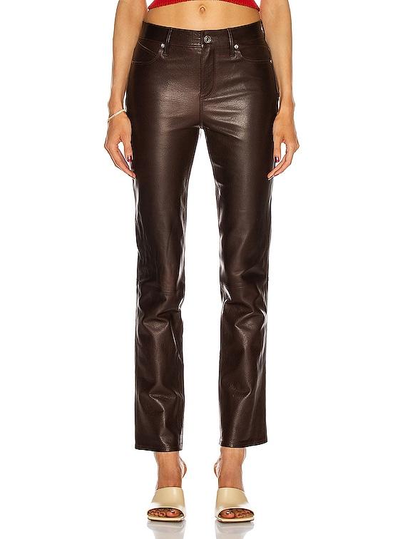 Remi Leather Pant in Cedar Crispy Wet